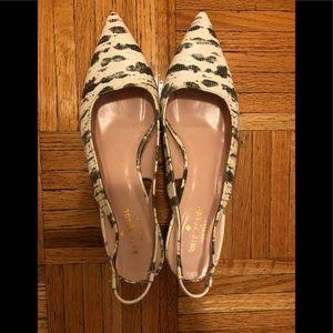 Kate Spade Like new Croc slung back size 9
